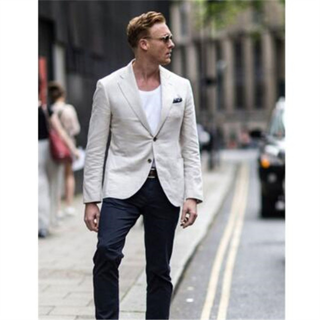 Casual Wedding Suits For Celebrity Summer Style Men Tuxedos Mens