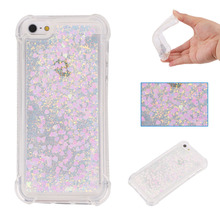 Floating shining liquid Phone Case  for Apple iPhone 5s 6 6s plus 7 8 X Protective Flowing Liquid Funda Coque