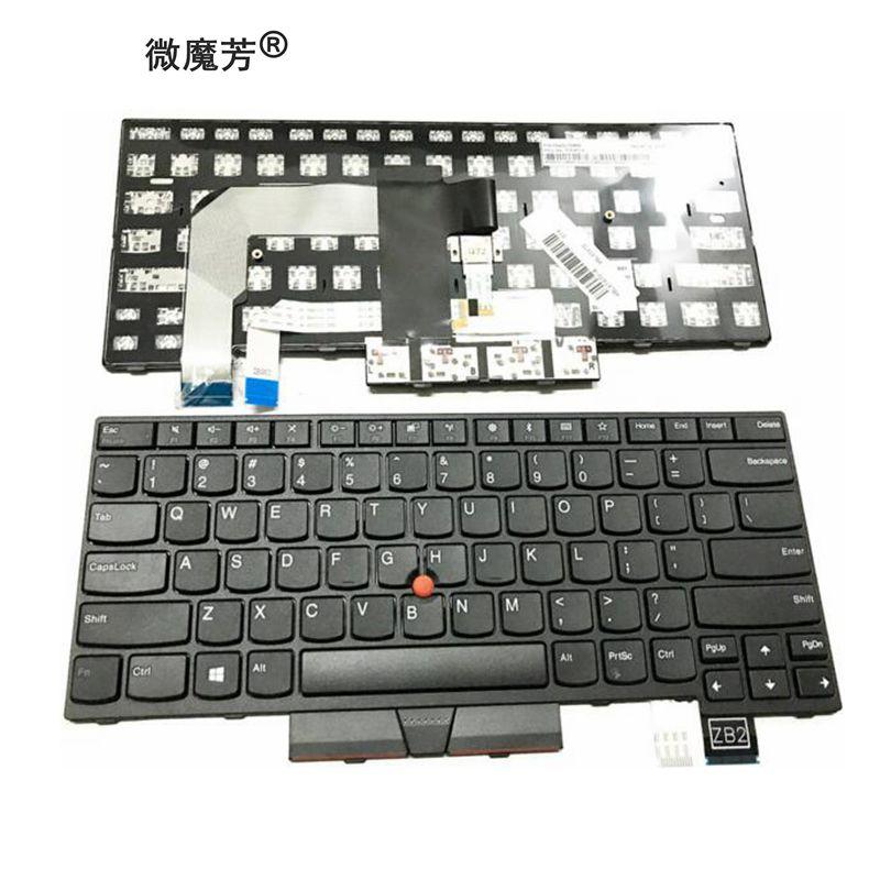Nouveau clavier pour Thinkpad T470 T480 clavier d'ordinateur portable us