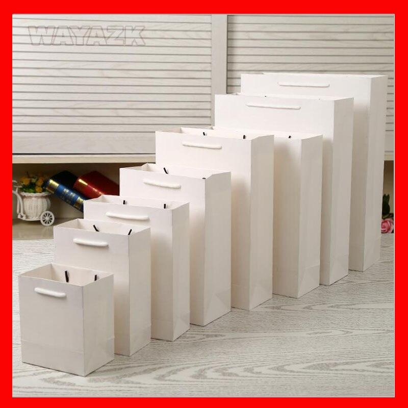 lot 250gsm Carton Sac 3 2 100 7 10 4 Avec Disponible 5 Blanc Gros En Pcs Poignées 11 12 10 Papier Taille 6 8Zx55PqF0w