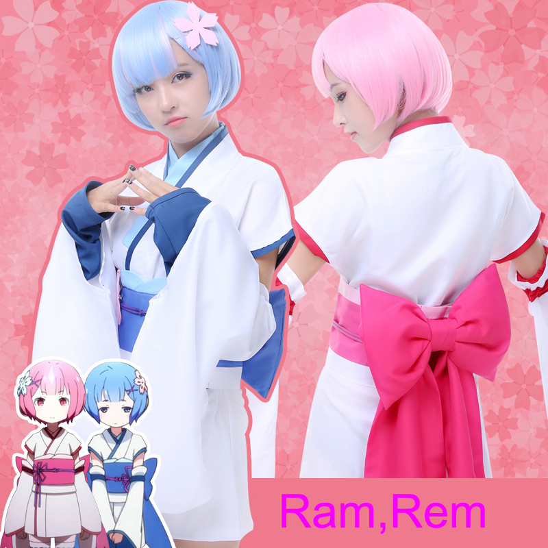 2016 Stock Re:Life In A Different World From Zero Ram Rem Ram Cosplay Costumes