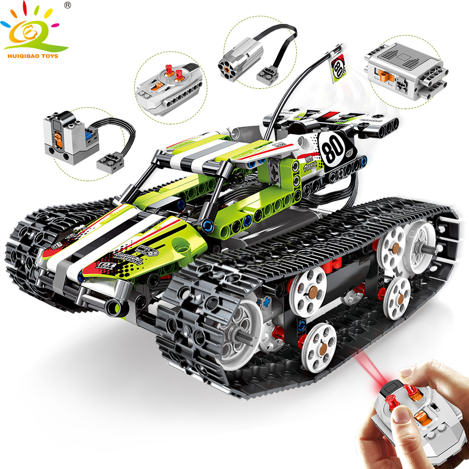 430pcs Remote control off road track motor Vehicle Building Blocks Technic RC Car Enlighten Bricks Toys