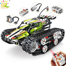 430pcs Remote control off-road track motor Vehicle Building Blocks Compatible legoingly Technic RC Car Bricks Toys for Children(China)