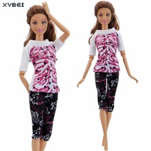 Beautiful Handmade Outfit Casual Daily Wear Top Trousers Dinner Party  Clothes For Barbie Doll Accessories Dollhouse 65d0bce6ab17