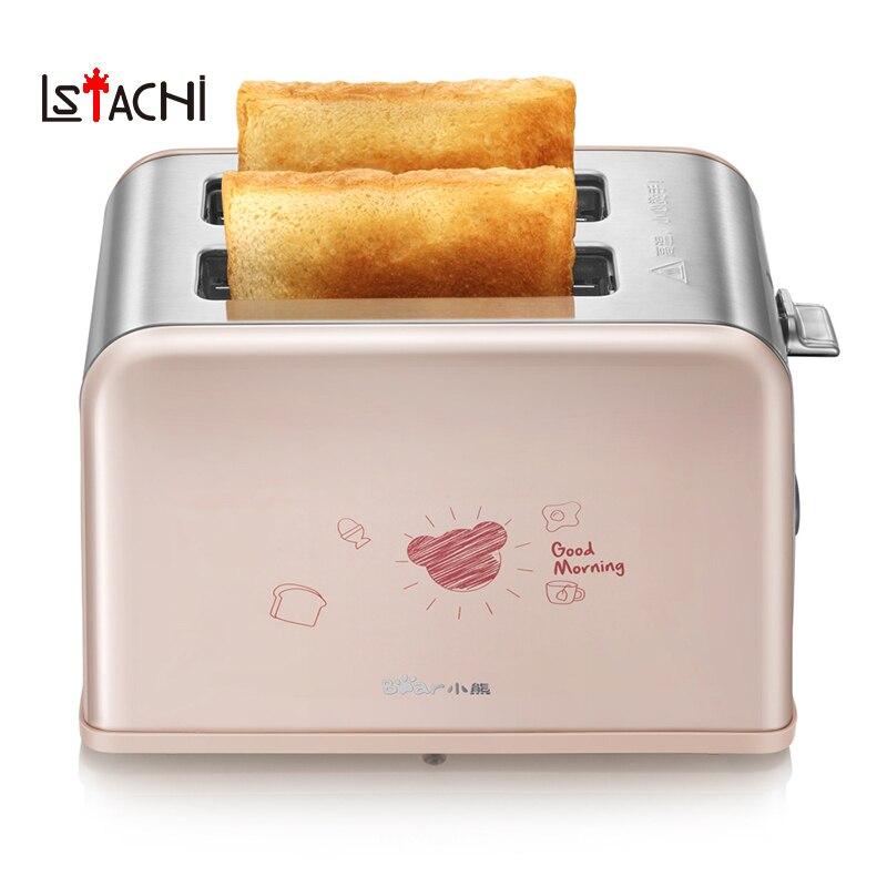 LSTACHi ménage machine à pain petit déjeuner électrique grille-pain cuisinière en acier inoxydable corps cuisson outils 220 V