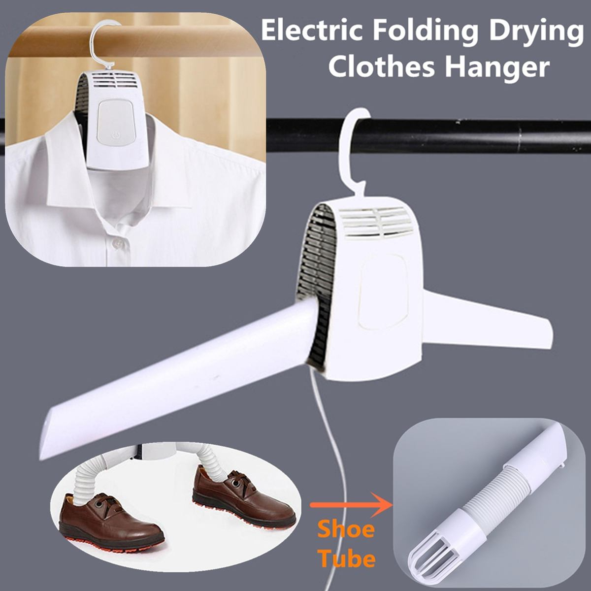 New Electric Clothes Drying Rack Smart Hang Clothes Dryer Portable Outdoor Travel Mini Folding Available Clothing Shoes Heater