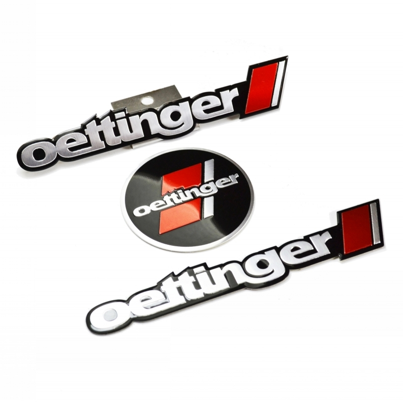Red oettinger Flag Grille & Rear Emblem Badge for Volkswagen MK6 MK7 GOLF  CC Jetta SCIROCCO POLO Tiguan R20 R36|Car Stickers| |  - title=