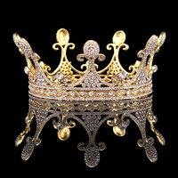 Crystal Rhinestones Crown Pageant Bridal Queen Crown Tiara Wedding Hair Accessories HG0087