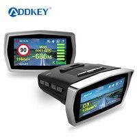 Addkey 3 в 1 регистраторы Ambarella A7LA50 автомобильный радар камера видеорегистратор 1296 P gps для российских Скорость анти Антирадары видео автомобиля