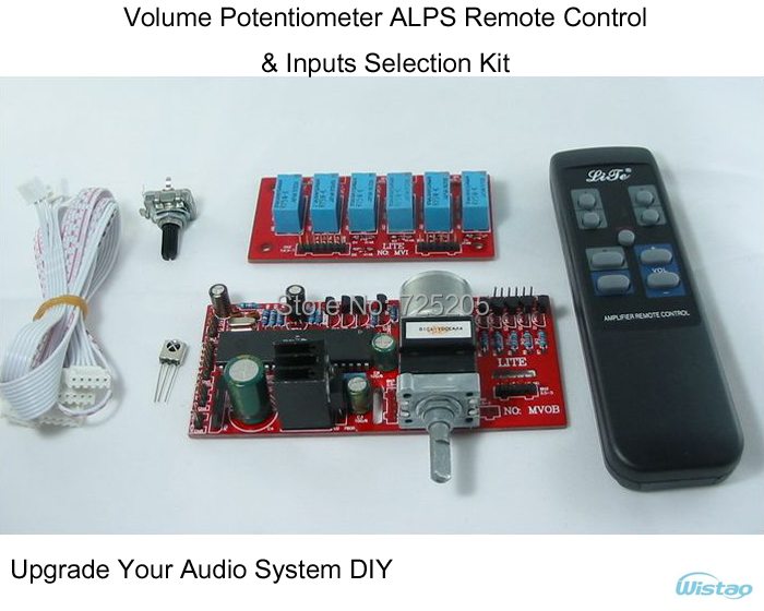 Amplifier Volume Potentiometer ALPS Remote-Control & Inputs Selection Kit for HIFI Audio DIY Upgrade Your System Free Shipping free shipping 6 way m62446 5 1 channel volume remote control preamplifier kit for dc motor use