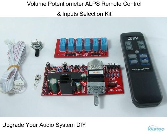 bilder für Verstärker Volumen Potentiometer ALPS Fernbedienung & Eingänge Auswahl Kit für HIFI Audio DIY Upgrade Ihr System Freies Verschiffen