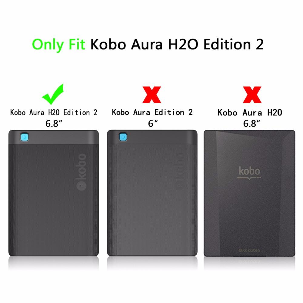 Smart cover case for 2017 Kobo aura H2O edition 2 6 8