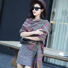 2015 Lady Women Blanket Oversized Tartan Scarf Wrap Shawl Plaid Cozy Checked