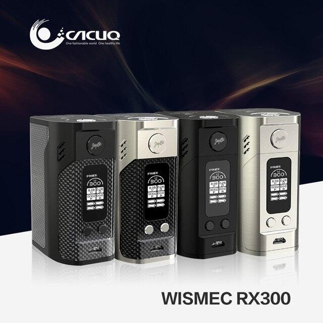 Оригинал Wismec Reuleaux RX300 Mod Reuleaux RX300 Wismec RX300 18650 Коробка Мод Серии RX с Большой Экран OLED Дисплей Жидкостью Vape