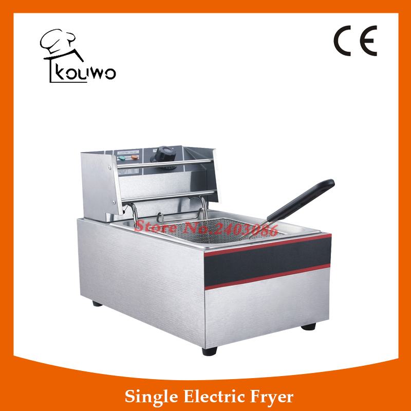 Hot-selling new industrial commercial potato deep tanks fryer/Electric Deep Fryer(KW-ZL1-6) shipule fast food restaurant 30l commercial electric chicken deep fryer commercial potato chips deep fryer frying machine