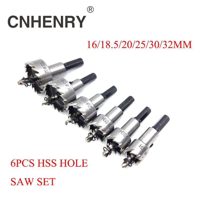 Free Shipping 5pcs 16/18.5/20/25/30/32mm Carbide Tip HSS Drills Bit Hole Saw Cutter Set For Cuttting Stainless Steel Metal Alloy 10pcs set carbide tip hss drills bit hole saw set stainless steel metal alloy 15 18 20 22 30mm