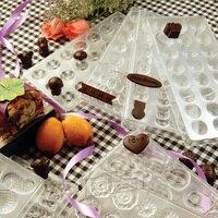 BAKEST Muilt Shaped DIY Plastic Material Chocolate Mold