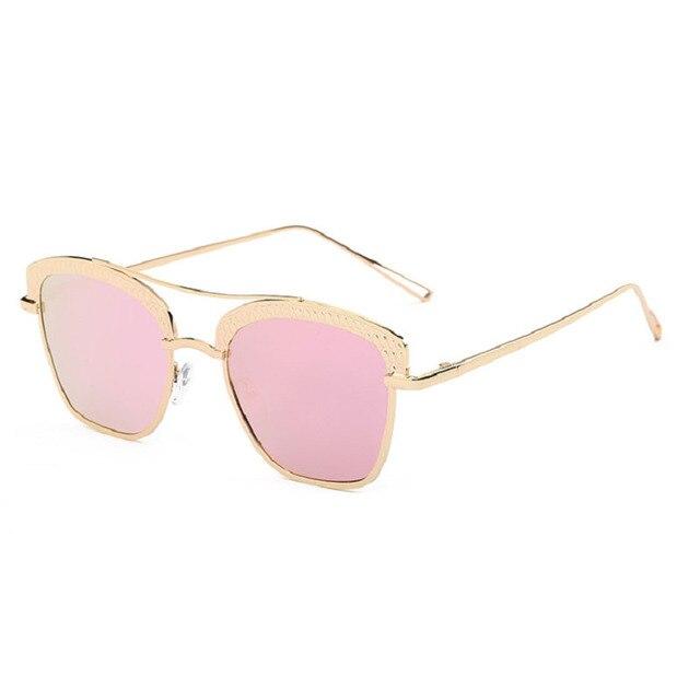 Twin-Vigas de Espelho Olho de Gato do vintage Óculos De Sol Das Mulheres  Coloridas 5c3e2268fe