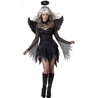 FGirl Cosplay Costume Sexy Halloween Costumes For Women One Size Adult Fallen Angel Costume FG30899