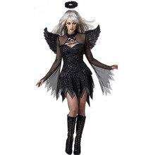 FGirl Cosplay Disfraces De Halloween para Las Mujeres Un Tamaño Adulto Fallen Angel Costume FG30899
