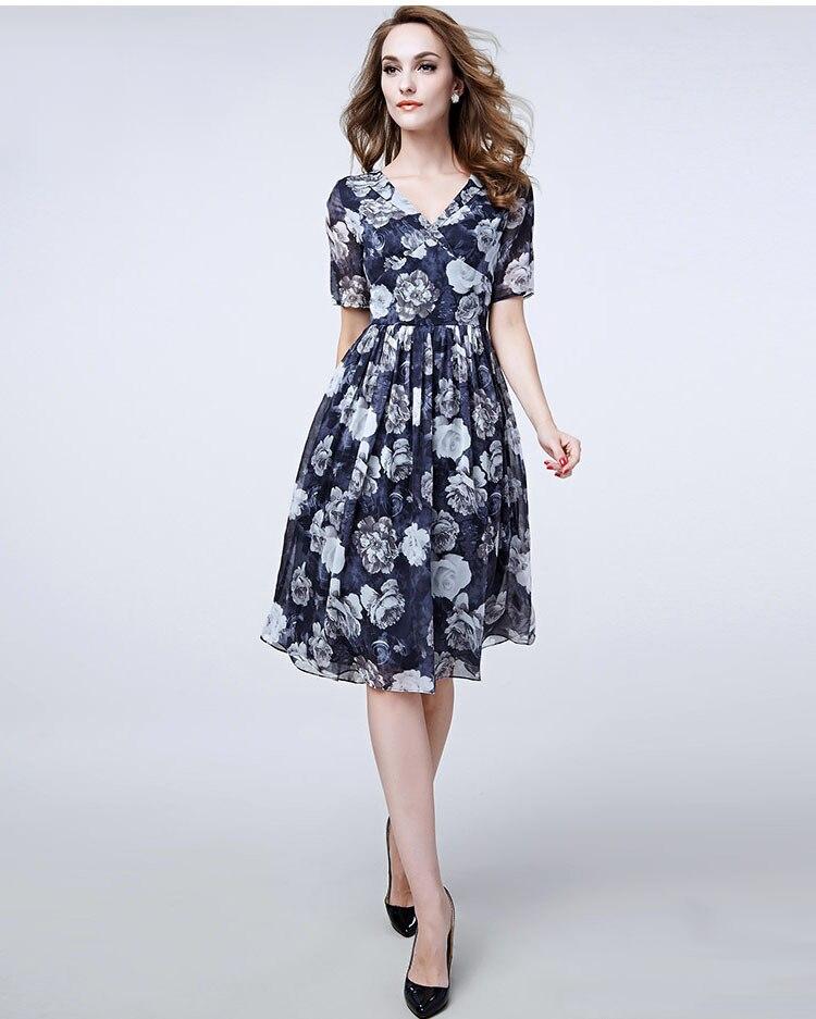 Silk Summer Dress 2553New Designal Natural Silk Georgette Dress ...