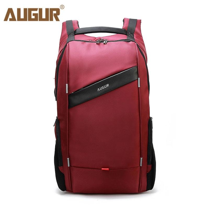 2fac1873e7 Augur USB Charging Laptop Backpack Fashion Business Travel Backpacks For  Women Men Waterproof Large Capacity Laptop