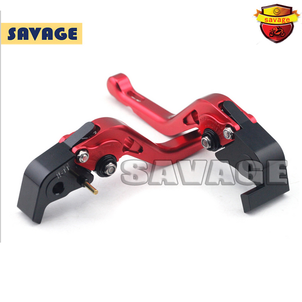 ФОТО For DUCATI HYPERMOTARD 1100/S/EVO 2007-2012 Red Motorcycle Accessories CNC Aluminum Short Brake Clutch Levers