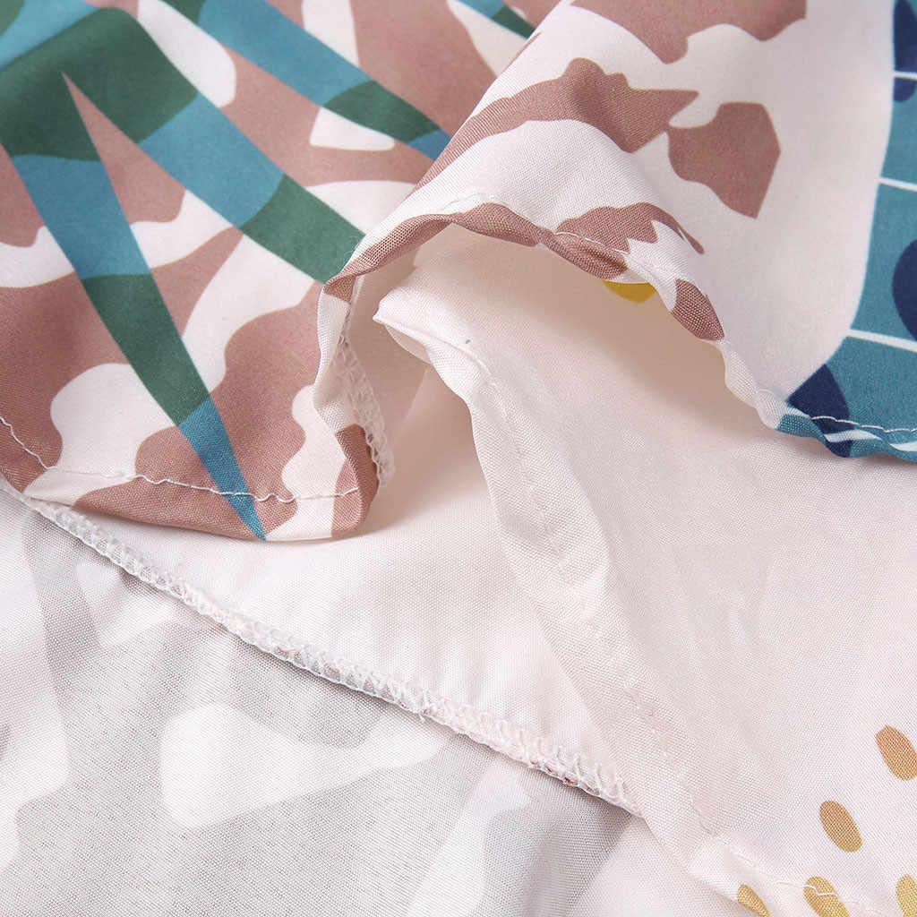JAYCOSIN 2019 новое летнее женское платье пикантные Гавайский с плеча Slash шеи Пояса цветочный короткий рукав Пляжное платье 9032045
