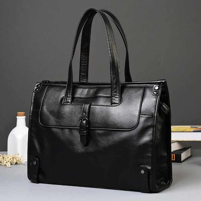 Portable PU Leather Bag Casual Men Handbags Business Crossbody Bag Men's Travel Bags Laptop Briefcase Shoulder Bag for Man mva genuine leather men bag business briefcase messenger handbags men crossbody bags men s travel laptop bag shoulder tote bags