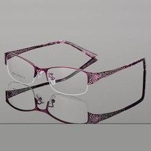 Reven Jate Half Randloze Brillen Frame Optische Recept Semi Velg Bril Brilmontuur Voor Vrouwen Eyewear Vrouwelijke