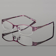 Reven Jate Half Rimless Eyeglasses Frame Optical Prescription Semi Rim Glasses Spectacle Frame For Womens Eyewear Female