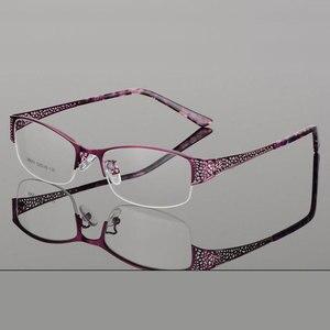 Image 1 - Reven Jate Mezza Senza Orlo Degli Occhiali Telaio Prescrizione Ottica Del Semi Rim Occhiali Montatura per Occhiali per Le Donne Delle Occhiali Femminile