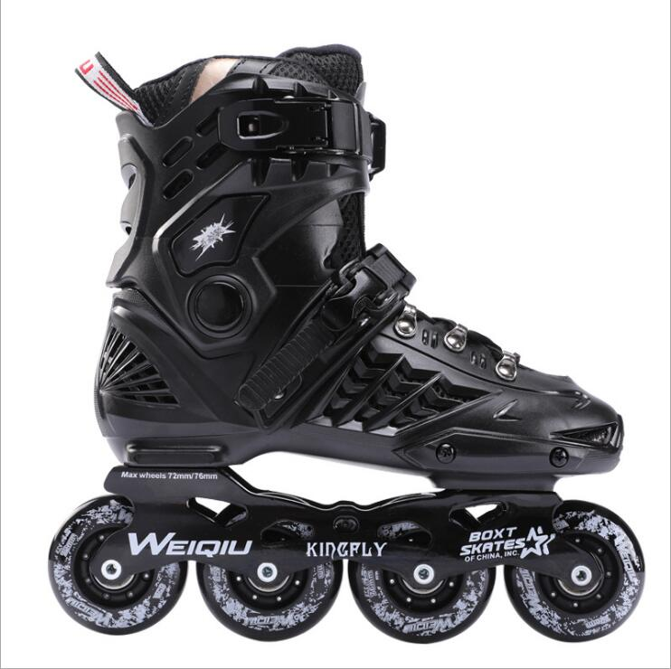 Inline Skates Professional Slalom Adult Roller Skating Shoes Sliding Free Skating Good As Patines Adulto Adult Ice Skate Shoes professional adjustable adult sliding slalom inline skates shoes roller skating shoes roller skate shoes with shinning wheel