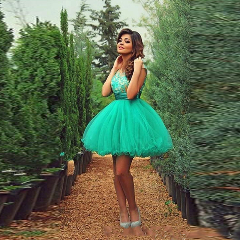 Beautiful Green Ball Gown Lace Homecoming