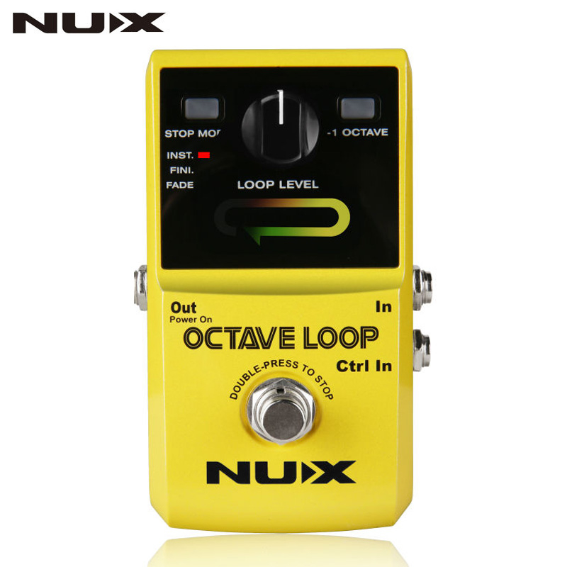 NUX Octave Loop Looper Guitar Effect Pedal With -1 Octave Effect Infinite Layers with Bass-Line True Bypass Guitar Pedal Effect new ab looper effect pedal loop switcher true bypass for electric guitar pedal orange foot switch