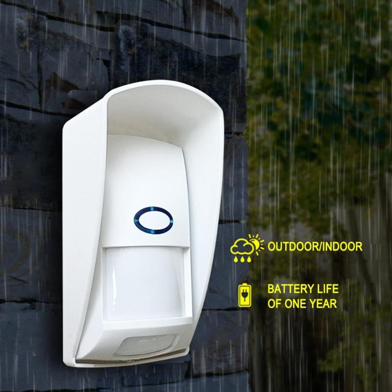 CT70, sensor de movimiento infrarrojo inalámbrico a prueba de agua para exteriores, Detector de movimiento infrarrojo de 433 Mhz, inmune a mascotas, para sistema de alarma de seguridad para el hogar