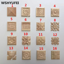 WSHYUFEI 8cmX8cm wood carving ornaments 15pcs / lot home decoration furniture accessories factory production direct