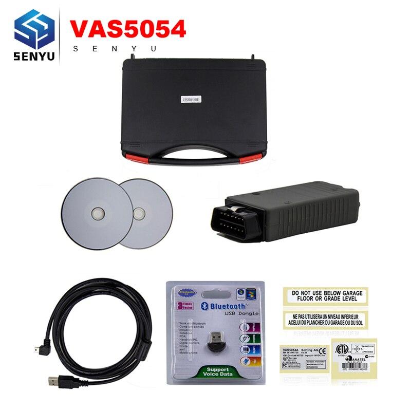 Цена за VAS 5054A ОДИС V4.0.0 Оригинальный OKI Полный Чип VAS5054A Bluetooth Поддержка UDS Протокол для VW/Audi/Skoda/место Vag Диагностический Инструмент