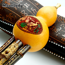 Chinese Traditional Instrument Bamboo Flute Cucurbit Flute Hulusi Key C Hulusi Wind-instrument Easy to Learn