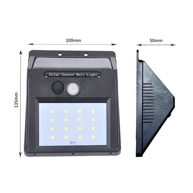 8/16/20 Leds Solar Panel Powered LED PIR Motion Sensor Lamp Night Light Garden Decor Wall Lamp Energy Saving
