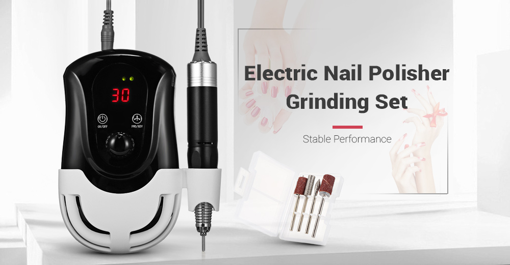 11 30000RPM Electric Nail Drill Machine Cutter Manicure Pedicure Tools With Accessory Profession Grinding Nail Art Equipment Kit 1