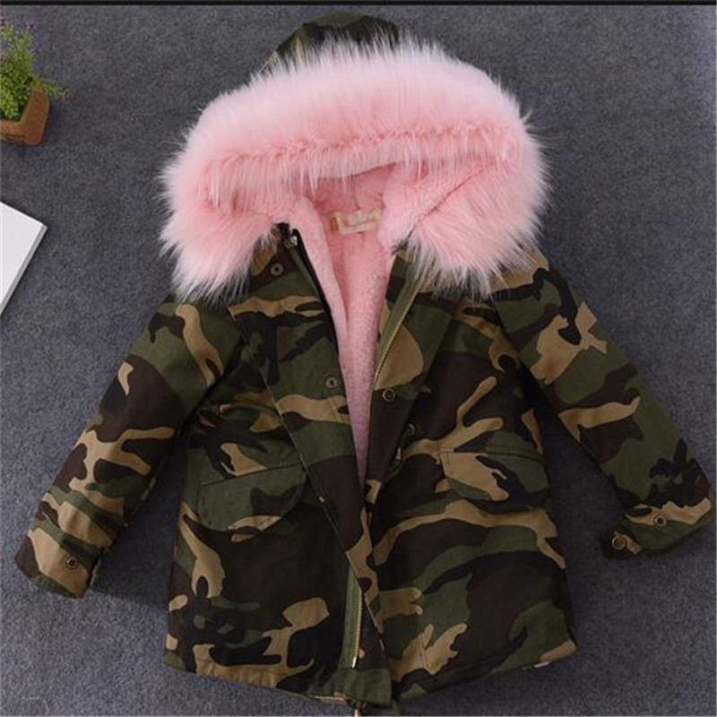2017 New Fashion Winter Boy Girls Jackets Thicken Children Cotton-Padded Clothes Europe Style Overcoat Fur Coat Kids Clothes new winter 2015 women cotton padded clothes draw string of cultivate one s morality show thin fashionable