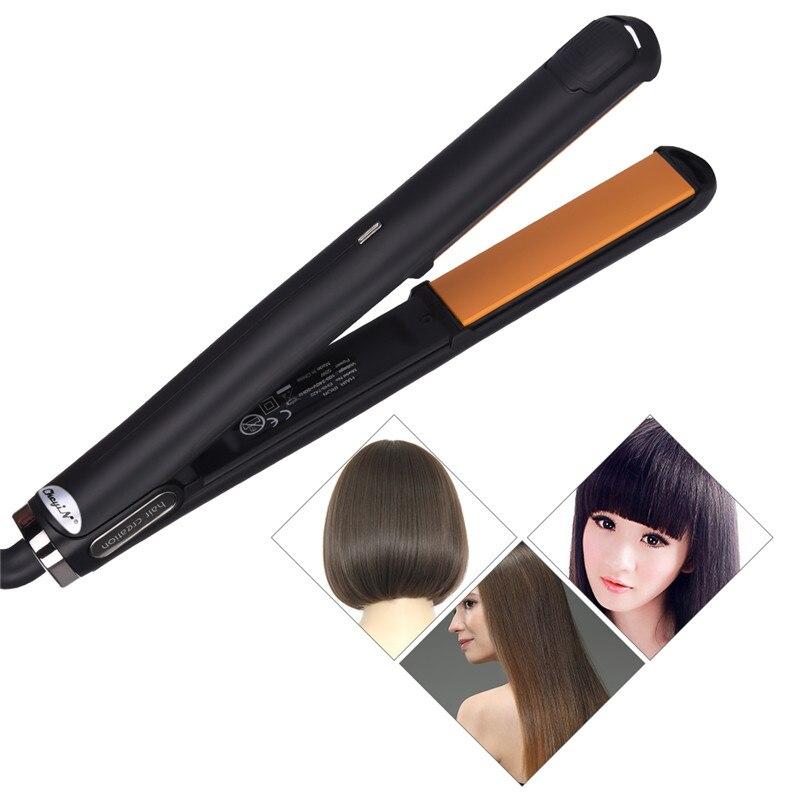 トルマリンセラミックプロのストレート温度調節可能なヘアフラット矯正鉄高速加熱スタイリングツール
