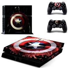 Captain American PS4 Skin Sticker Decal Vinyl for Sony Playstation 4 Console and 2 Controllers PS4 Skin Sticker