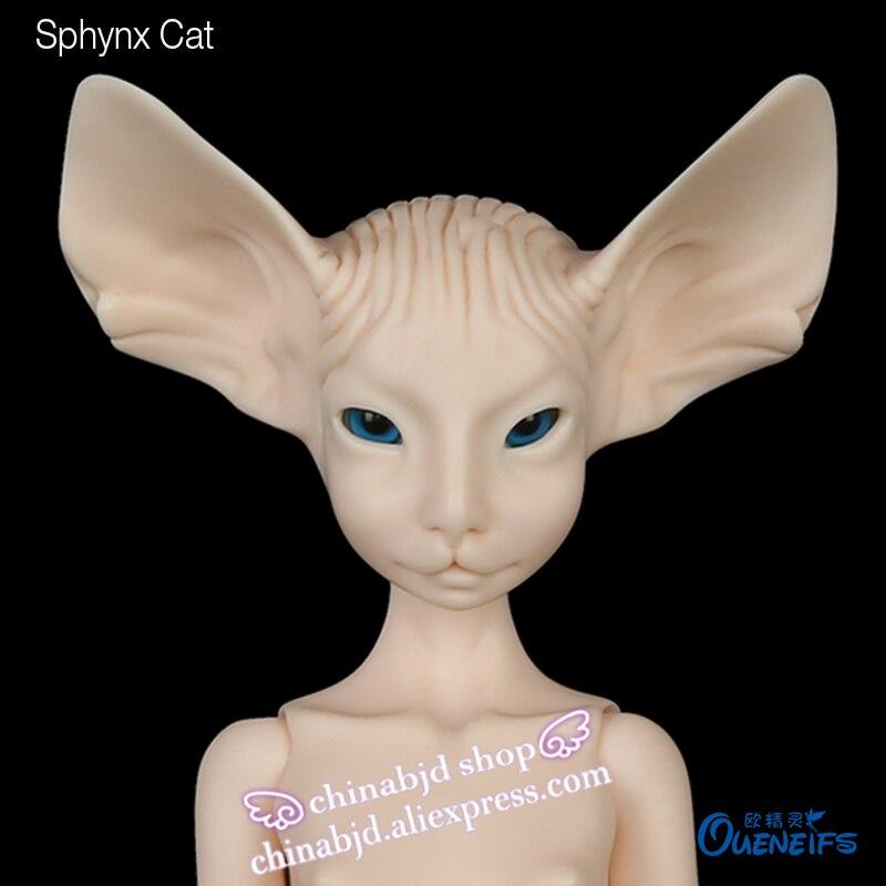 Livraison Gratuite BJD Poupée Sphynx Chat Lillycat Constantine Noble Radicelle Unique Jolie Figure Jouets Pour Les Enfants Poupées De Résine