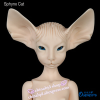 OUENEIFS Hot Sale Sphynx Cat Lillycat Constantine Cream Noble Radicelle Bjd Sd Doll 1 4 Body