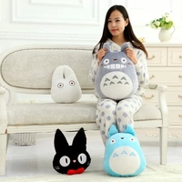 1pc Big Size My Neighbor Totoro Plush Toy Pillows Lovely Stuffed Doll Cushion Totoro Black Cat