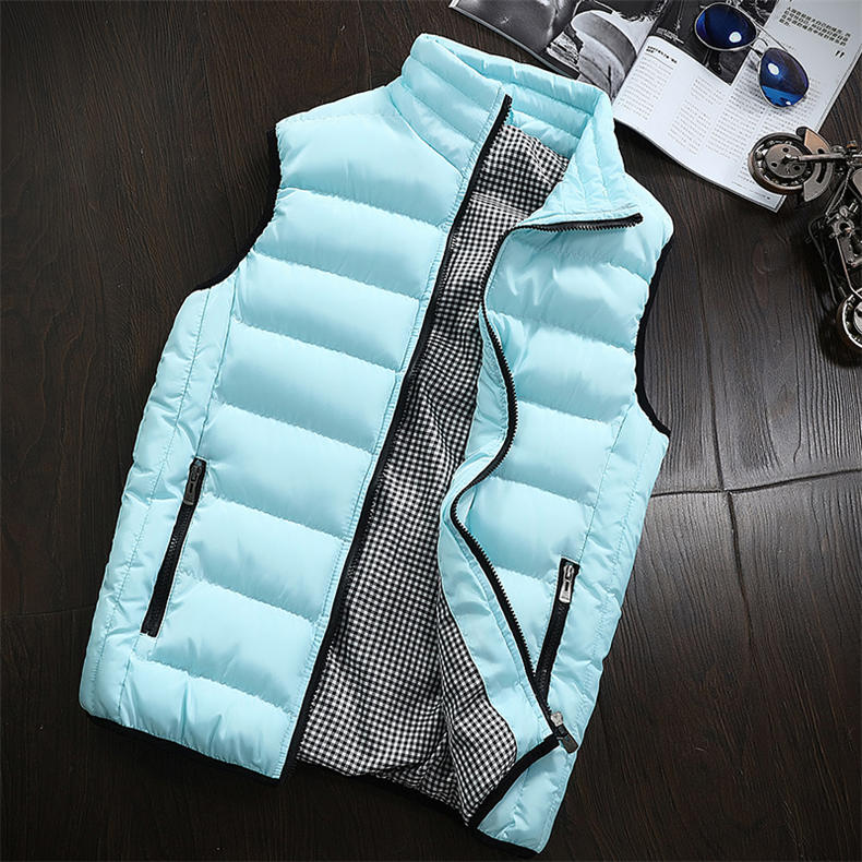 Vest Men 2019 Spring Autumn Male Sleeveless Jacket Coat Lovers Stylish Padded Down Vest Men Waistcoat Brand Cloths Plus Size 5XL 18