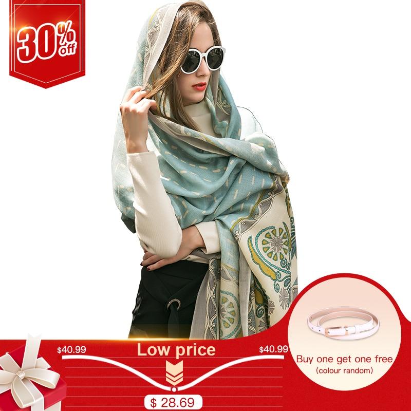Розкішний бренд Pashmina Echarp Кашемір шарф Wrap Теплий шаль Зимовий шарф Жіночі шарфи китицями довге ковдру