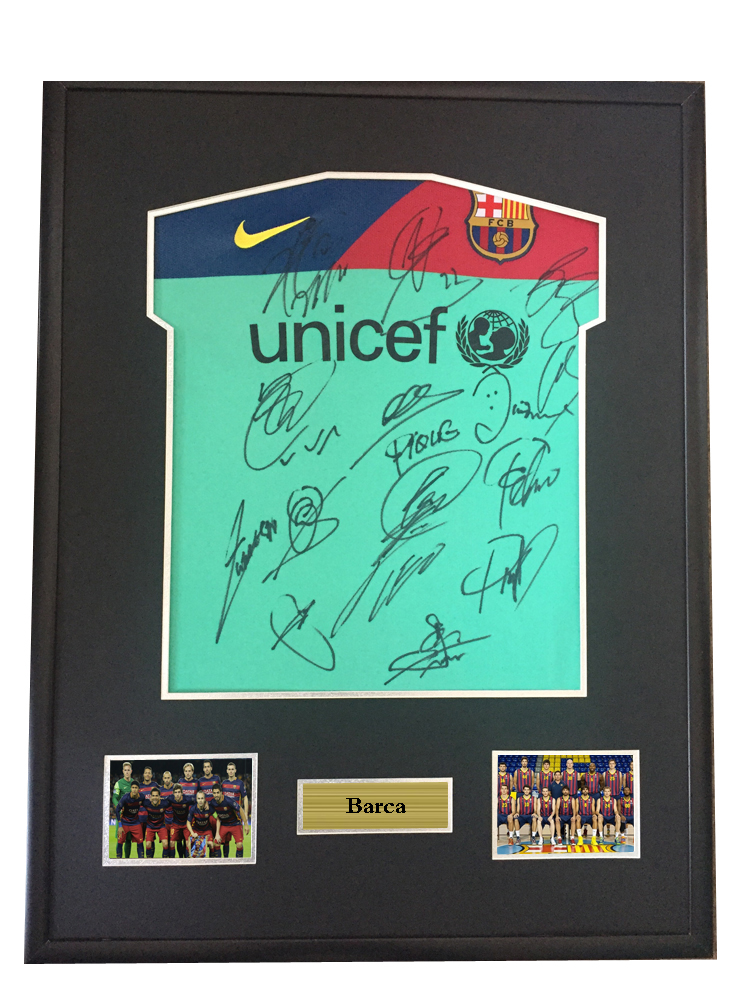 reputable site eca8f 47bca US $1800.0  Messi Alves signed autographed soccer shirt jersey come with Sa  coa framed Barcelona 2010-in Frame from Home & Garden on Aliexpress.com    ...